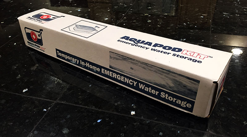 Reviewing The Aqua Pod Emergency Water Storage System